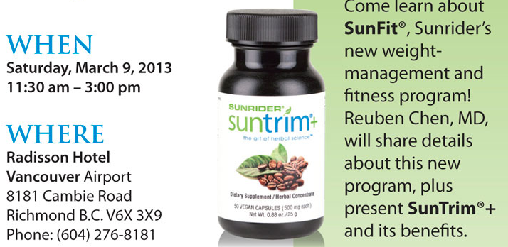 SunTrim Plus weight loss in Canada Dr Reuben Chen