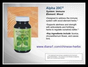 Alpha 20C Sunrider for Immune System, part of Quinary  diana1.com/chinese-herbs