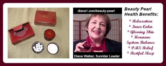 Beauty Pearl Diana Walker Sunrider www.diana1.com/beauty-pearl Relaxation, Inner Calm, Restful Sleep