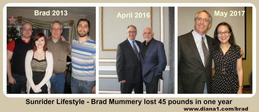 Brad Weight Loss Sunrider 2013 2016 2017