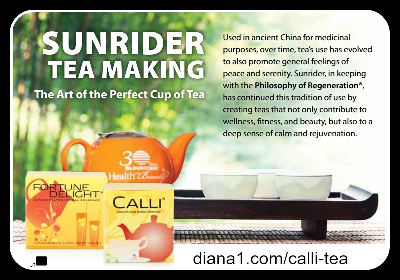 Calli Tea Sunrider Art of Tea Making Sunrider