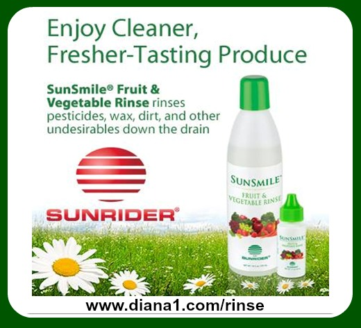Cleaner Fruits and Vegetables Rinse Sunrider