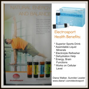 Electrosport for Minerals and Electrolytes Amazing Help with Dehydration diana1.com/electrosport