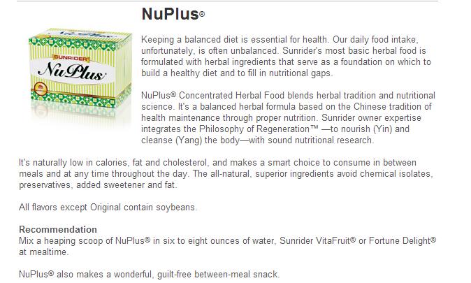 NuPlus Order USA Sunrider Products Canada