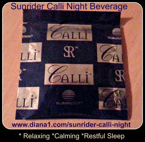 Sunrider Calli Night Tea Relax Calm Sleep Diana Walker