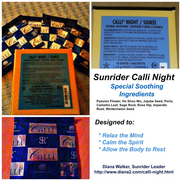Sunrider Calli Night Tea Relax Sleep Sunrider Diana Walker