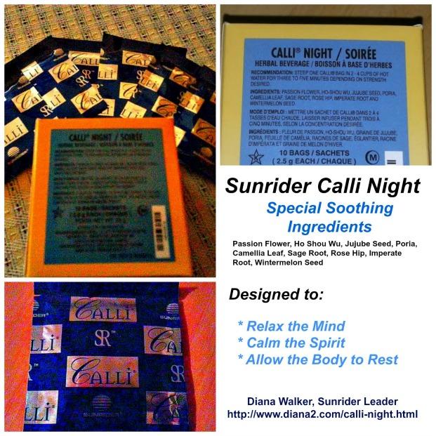 Sunrider Calli Night Tea Relax Sleep Sunrider Diana Walker