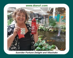 Sunrider Diana Walker Fortune Delight and Vitashake