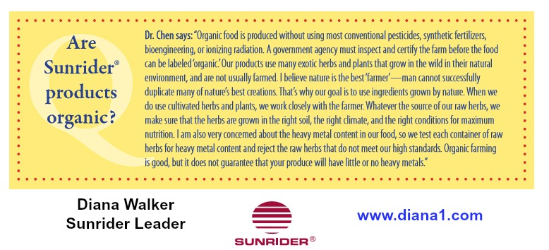 Sunrider-Foods-Organic-Question-Diana-Walker