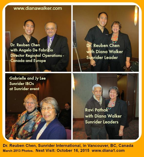 Sunrider Vancouver Canada Diana Walker Dr Reuben Chen Vancouver BC Canada 2015 www.diana1.com/sunrider