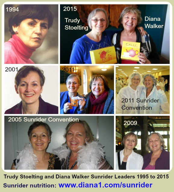 Trudy Stoelting Sunrider Diana Walker 1995 to 2015 Leaders www.diana1.com/sunrider